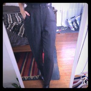 Giorgio Armani trousers-dark brown/grey